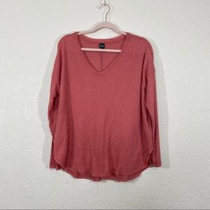 NWT Wild Fable Old Rose Button-Front Therm…